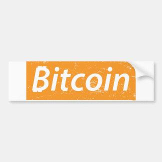 Adesivo Para Carro Retângulo de Bitcoin