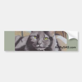 Adesivo Para Carro Retrato cinzento do animal de estimação do gato