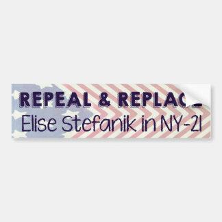 Adesivo Para Carro Revogue e substitua Elise Stefanik
