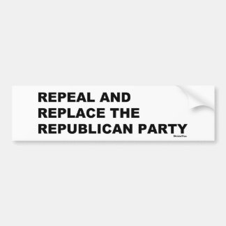 Adesivo Para Carro Revogue e substitua o Partido Republicano