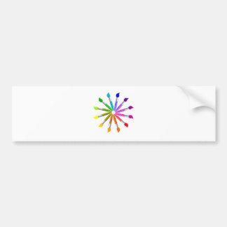 Adesivo Para Carro Roda de cor da escova de pintura, teoria da cor do