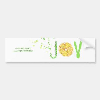 Adesivo Para Carro Roteiro extravagante do limão do bastão de doces