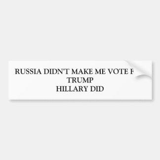 Adesivo Para Carro Rússia não me fez votar para o trunfo