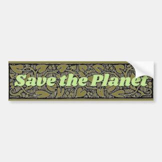 Adesivo Para Carro Salvar a folha e a videira do planeta