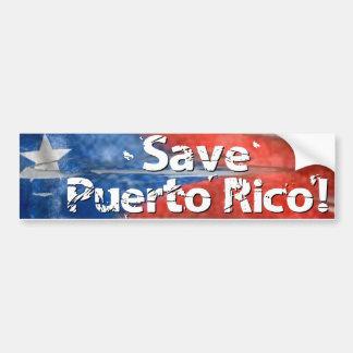Adesivo Para Carro Salvar Puerto Rico!