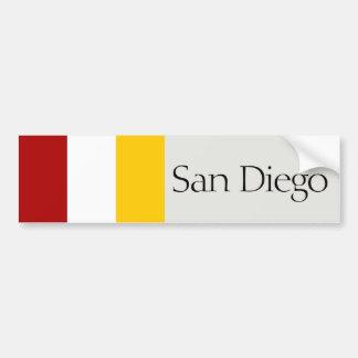 Adesivo Para Carro San Diego simplificou o autocolante no vidro