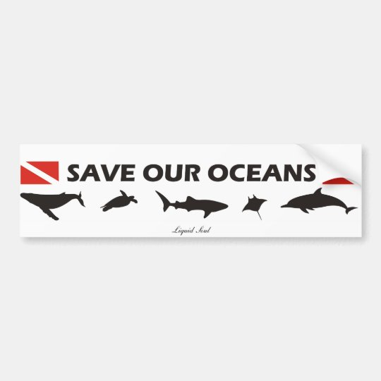 Adesivo Para Carro Save Our Oceans - Sticker