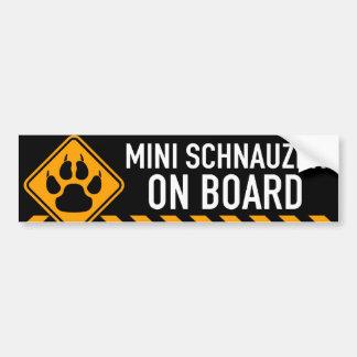Adesivo Para Carro Schnauzer diminuto a bordo