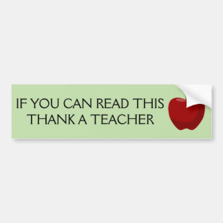 Adesivo Para Carro Se você pode ler este, agradeça a um professor