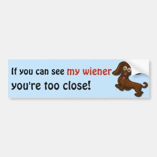Adesivo Para Carro Se você pode ver meu wiener, dachshund engraçado
