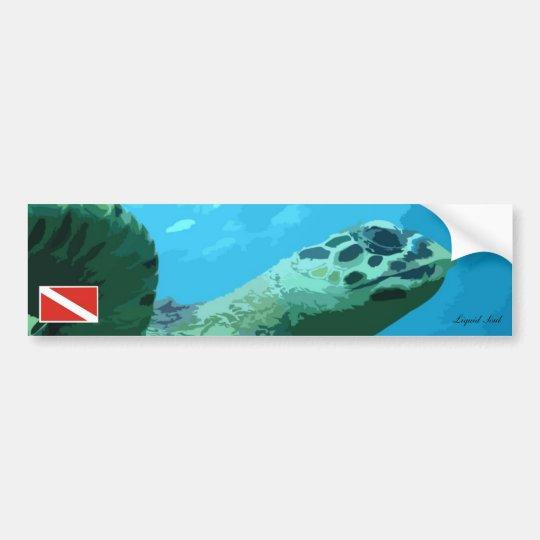 Adesivo Para Carro Sea Turtle Bumper Sticker