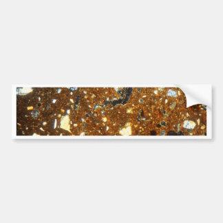 Adesivo Para Carro Seção fina de um tijolo sob o microscópio