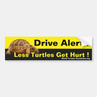 Adesivo Para Carro Segurança Bumpersticker da tartaruga