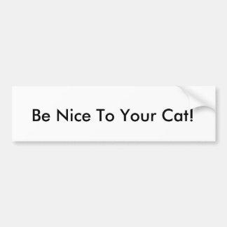 Adesivo Para Carro Seja agradável a seu gato!