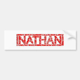 Adesivo Para Carro Selo de Nathan
