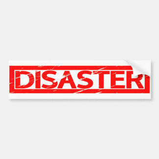 Adesivo Para Carro Selo do desastre