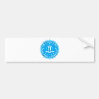 Adesivo Para Carro Selo do FBI no azul