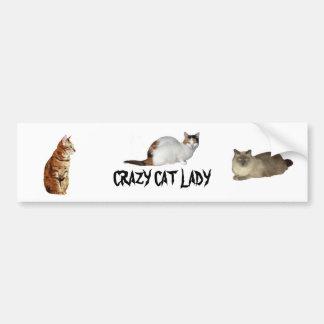 Adesivo Para Carro Senhora louca do gato