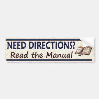 Adesivo Para Carro Sentidos da necessidade?  Leia a bíblia engraçada