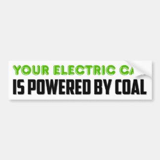 Adesivo Para Carro Seu carro elétrico é psto pelo carvão
