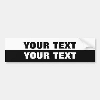 """Adesivo Para Carro Seu texto do """"preto e branco extremamente corajoso"""