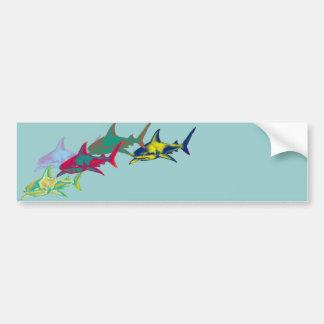 Adesivo Para Carro Sharks