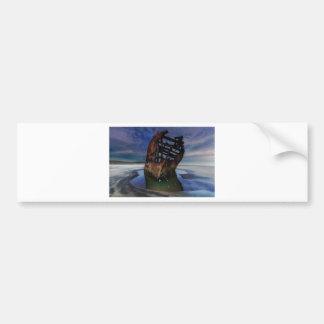 Adesivo Para Carro Shipwreck de Peter Iredale sob o céu nocturno