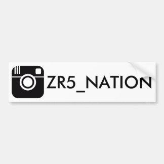 Adesivo Para Carro Siga o branco de @ZR5_NATION