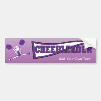 Adesivo Para Carro Silhueta roxa da menina do cheerleader
