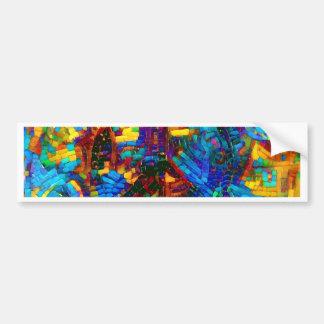 Adesivo Para Carro Símbolo de paz colorido do mosaico