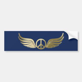 Adesivo Para Carro Símbolo de paz do olhar do metal com asas