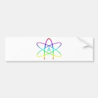 Adesivo Para Carro Símbolo do ateu do arco-íris