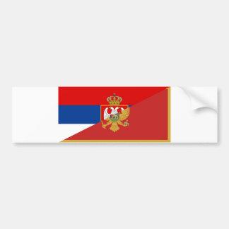 Adesivo Para Carro símbolo do país da bandeira de serbia Montenegro