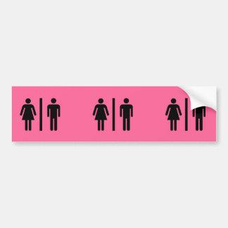 Adesivo Para Carro Símbolo dos homens e das mulheres