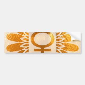 Adesivo Para Carro Símbolo fêmea do ícone: Energia dourada do
