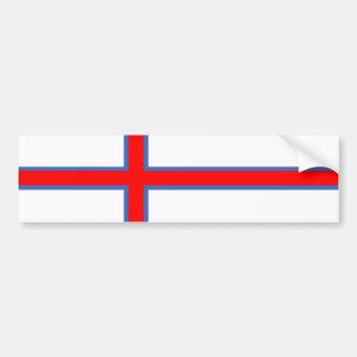 Adesivo Para Carro símbolo longo da bandeira de país de Faroe Island