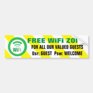 Adesivo Para Carro Sinal de aviso livre da zona de WiFi