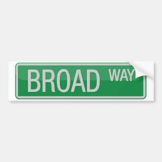 Adesivo Para Carro Sinal de estrada de Broadway