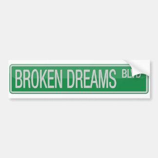 Adesivo Para Carro Sinal de estrada quebrado do bulevar dos sonhos