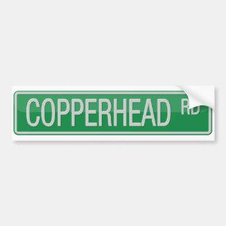 Adesivo Para Carro Sinal de rua da estrada de Copperhead