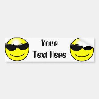 Adesivo Para Carro Smiley face amarelo dos óculos de sol legal
