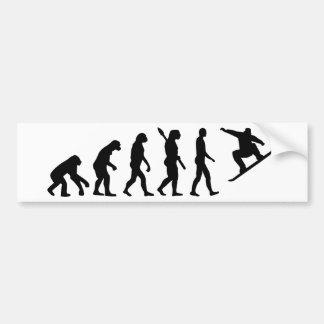 Adesivo Para Carro Snowboard da snowboarding da evolução