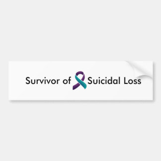Adesivo Para Carro Sobrevivente da perda suicida