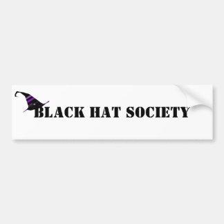 Adesivo Para Carro Sociedade o Dia das Bruxas do chapéu negro