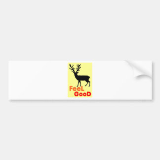 Adesivo Para Carro Sombra dos cervos da sensação boa