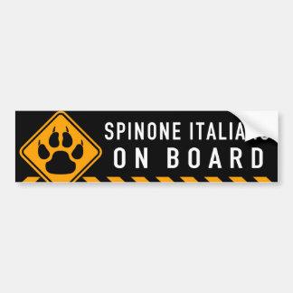 Adesivo Para Carro Spinone Italiano a bordo