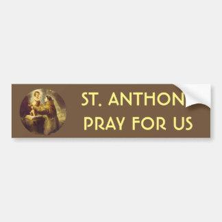 Adesivo Para Carro St Anthony do bebê Jesus de Pádua