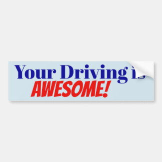 Adesivo Para Carro Sua condução é impressionante! etiqueta