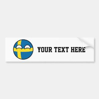 Adesivo Para Carro Suecia Geeky de tensão engraçada Countryball