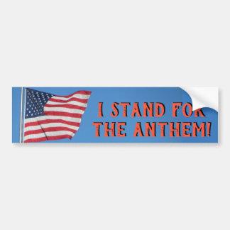 Adesivo Para Carro Suporte da bandeira dos Estados Unidos para o hino